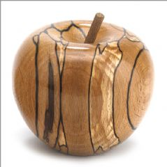 Natural Spalted Beech apple